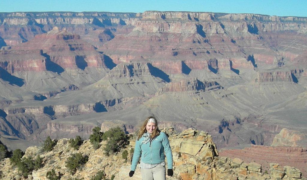 Karla at the Grand Canyon