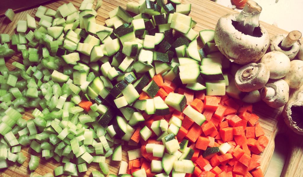 Vegetables in shepherds pie